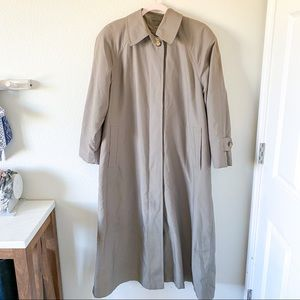 London Fog Taupe Trench Size 8